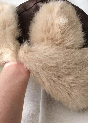 Шапка ушанка кролик oviesse италия