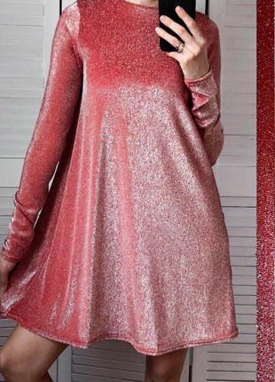Платье из блестящего люрекса
