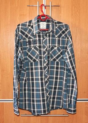Брендоая мужская рубашка tom tailor