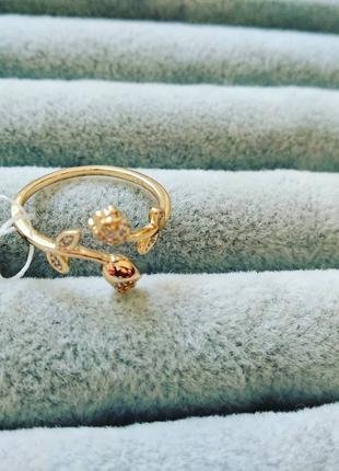 Кольцо позолота, 17 размер