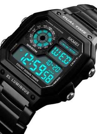 Мужские часы Skmei 1335 Ripple Black