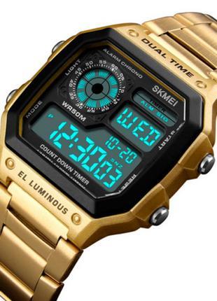 Мужские часы Skmei 1335 Ripple Gold