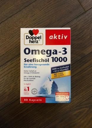 Риб'ячий жир doppelherz aktiv omega-3  1000 (80 капсул)