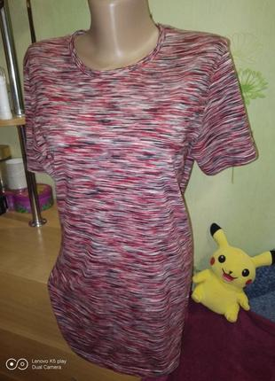 Меланжевая футболка высокой девушке s-m-c&a- идеал