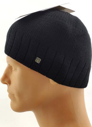 Мужские вязаные шапки 56 по 60 размер