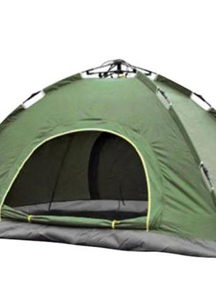 Палатка автоматическая с каркасом 2-х местная (Зеленая)