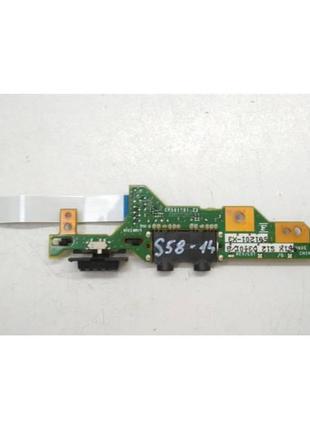 S58-14 Плата модуль AUDIO Fujitsu LifeBook E751 P/N:CP501201-X3