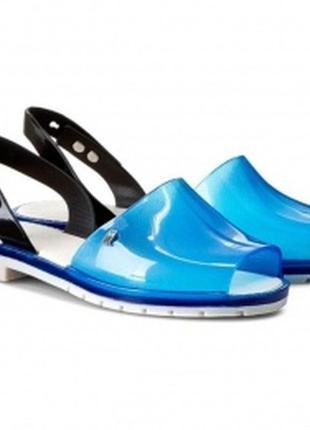 Женские синие силиконовые босоножки бразильского бренда melissa