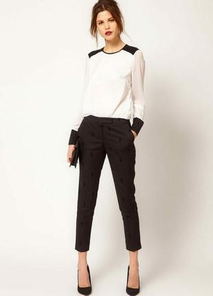 Эластичные укороченные брюки скинни see by chloe оригинал ,р.s