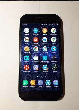 Смартфон Samsung A5 3/32Gb, коробка. Отличное сост. Черный.