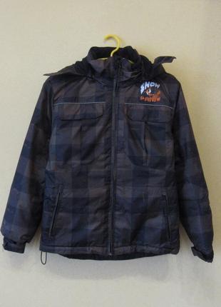 Теплая куртка на флисе с капюшоном от snow panic okay