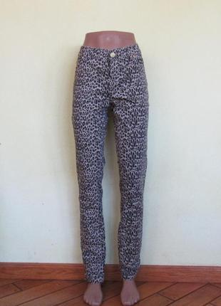 Леопардовые джинсы скинни от denim co