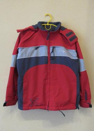 Шикарная лыжная куртка с капюшоном от turbine boys medium