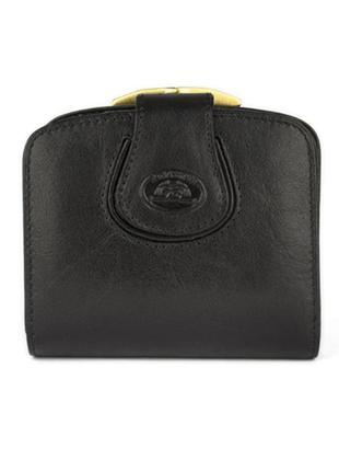 Маленький женский кожаный кошелек tony perotti черный италия