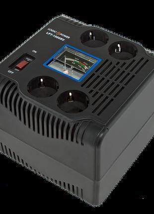 Стабилизатор напряжения LogicPower LPT-1000RV (700W) black
