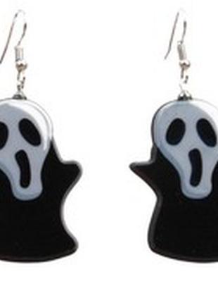 Серьги хэллоуин. серьги крик, хеловин, хелоуин, хеллоуин