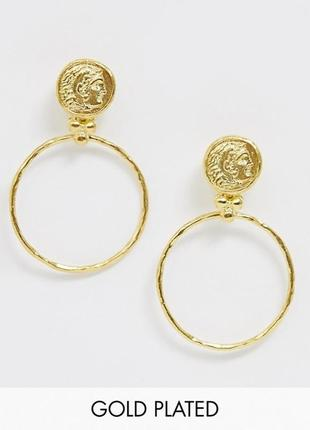 Серьги-кольца в позолоте от ottoman hands