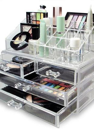 Настольный акриловый органайзер для косметики Cosmetic Storage...