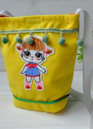 Сумочка с лол, детская маленькая сумочка с куклой лол