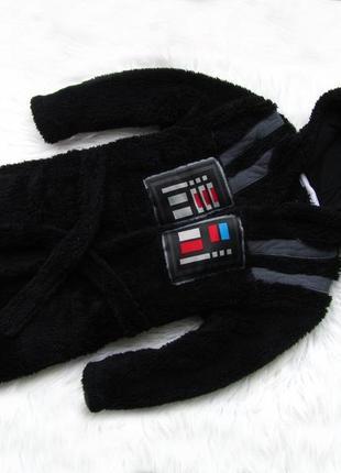 Стильный халат с капюшоном star wars george darth vader