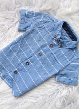 Стильная и качественная рубашка с коротким рукавом f&f