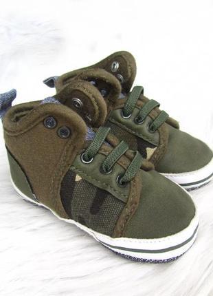 Теплые пинетки - ботинки  кроссовки кеды primark