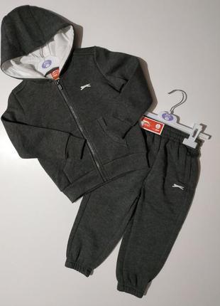 Фирменный флисовый спортивный костюм slazenger