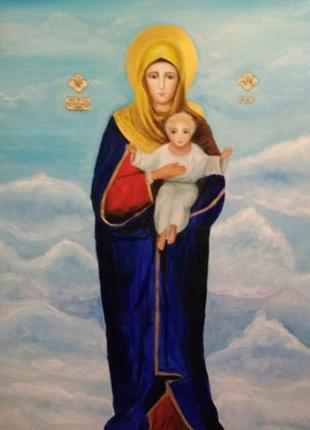 Картина дева Мария с Младенцем