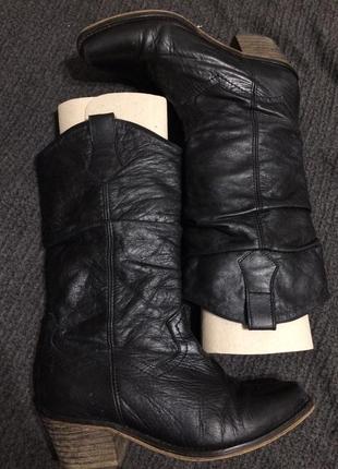 Schuh сапоги сапожки казаки кожаные