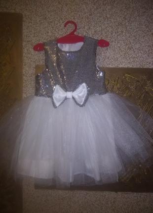 Нарядное платье на 4-6 лет. принцессу. 👗👑