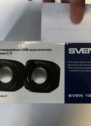 Компактные USB колонки Sven 120
