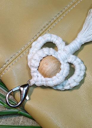Брелок макраме на сумочку, этно-стиль, бохо-стиль.