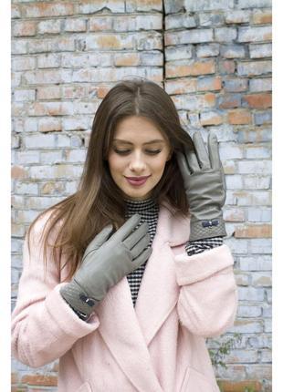 Кожаные перчатки зима, демисезон.