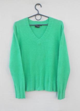 Зимний теплый шерстяной свитер джемпер пуловер c ангорой с дли...