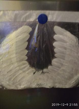 Новогодний костюм- крылья ангела, натур. перо.