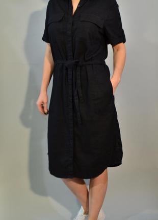4068\120 льняное платье-рубашка next xl