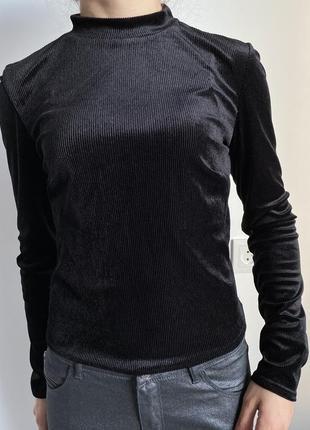 Черная женская кофта с блеском, праздничная, свитер atmosphere.