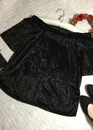 Блузка бархатная с открытыми плечами envy 10 размер