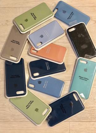 Чехол Silicon Case для IPhone 7+ 8+ X Xs