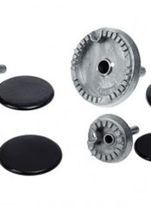 Комплект горелок с крышками для газовой плиты Gefest(396783013)