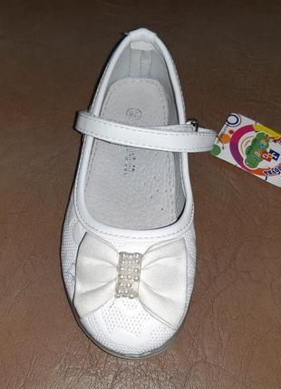 Нарядные белые туфли 28 р. 18 см jong golf на девочку