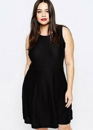 Базовое стрейчевое фактурное платье 24/58-60 размера