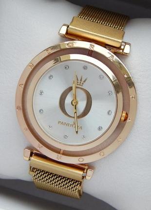 Женские наручные часы с вращающимся серебристым циферблатом, н...