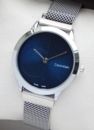 Часы Calvin Klein женские на магнитной застежке, синий циферблат