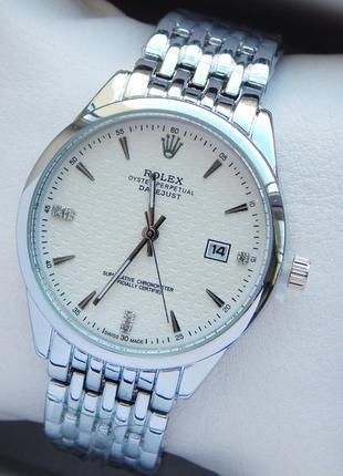 Женские кварцевые наручные часы серебро с белым циферблатом, о...