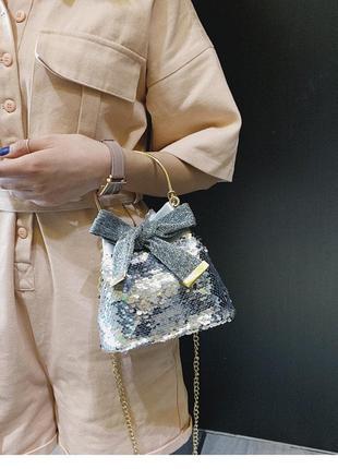 ⛔женская мини сумочка клатч материал: экокожа pu паетки пайетки