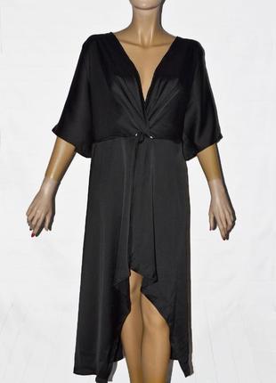 Оригинальное черное платье свободного кроя супер батал от boohoo