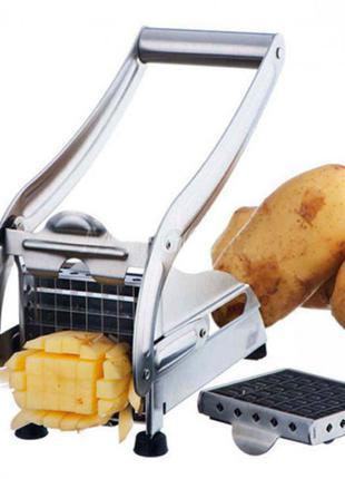 Ручная картофелерезка металлическая машинка Potato Chipper для...