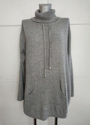 Стильный свитер, джемпер next свободного кроя оверсайз серого ...