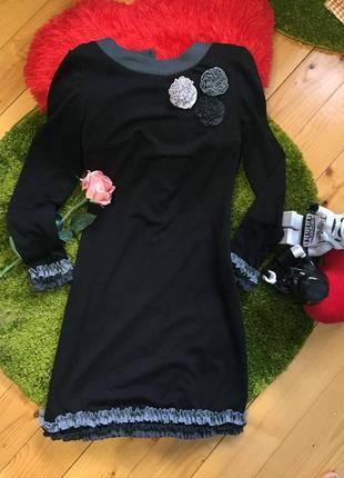 Платье с цветочками и рюшей. миленькое.